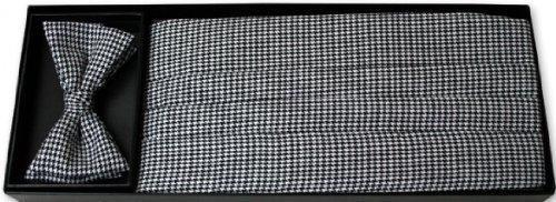 Black-and-White-Houndstooth-Tuxedo-Cummerbund-and-Bow-Tie
