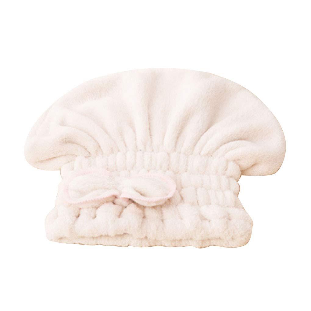 Fornateu Cheveux Microfibre s/èche-Serviettes t/ête Wrap Douche darc-Noeud Cap Cheveux Turban Cheveux Wrap Bain Cap