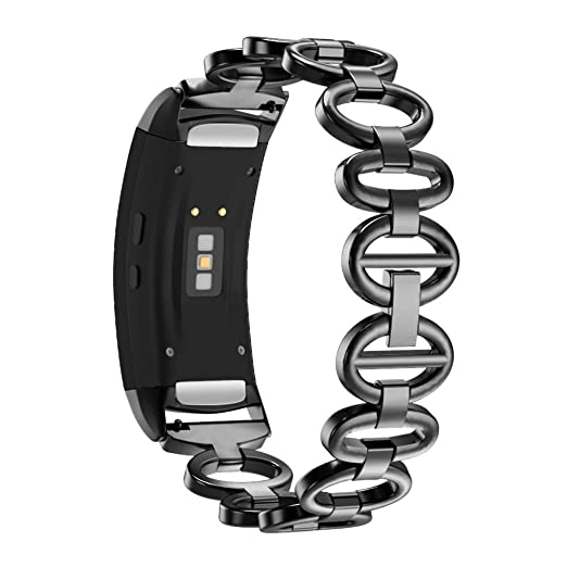 GOUPPER Samsung Gear Fit 2 Pro/Fit 2 Band, Stainless Chain ...