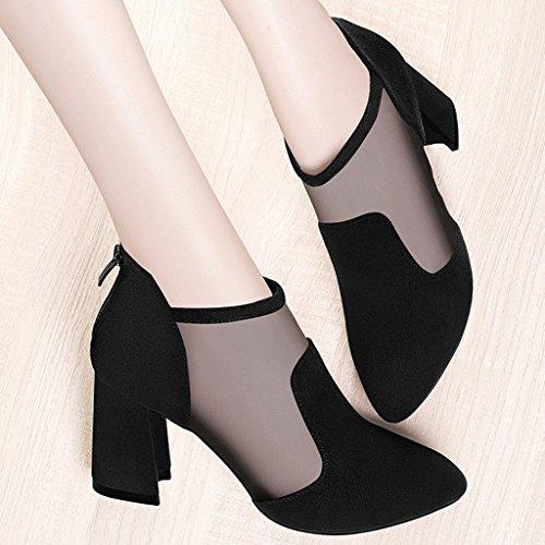 11279cefcc28dc Ont Pointé Taille 35 Hauts Des Talons Chaussures Vert Sandales Femme Noir  Femelles Sexy Les Hwf Filent Simples D'été Femmes couleur nyUWffxpqX
