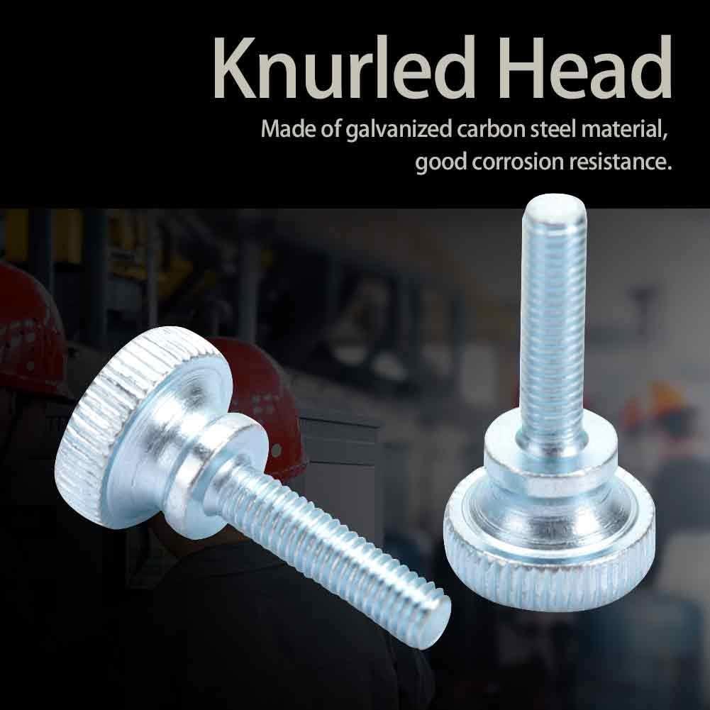 M5*25 Tornillo de cabeza moleteada ajustable M5 de 50 piezas Tornillo industrial de cabeza alta