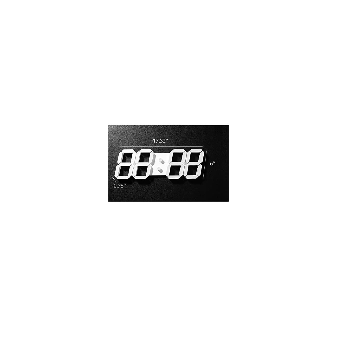 Pinty Multi Functional Remote Control Large Led Digital Wall Clock