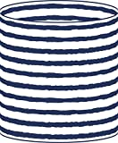 LampPix 10 Inch Custom Printed Table Desk Lamp Shade Nautical Stripe Navy (Spider Fitting)