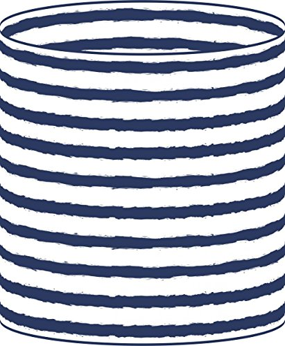 LampPix 10 Inch Custom Printed Table Desk Lamp Shade Nautical Stripe Navy (Spider (Lamp Stripes Table Lamp)