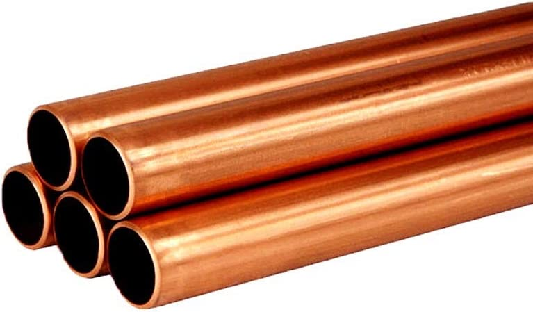 HSTD 1Pcs T2 Copper Round Tube,28mm-35mm OD Hollow Straight Pipe,Tubing Radiating,for DIY Crafts,Industrial Making,Generator Switch Gear,Cable OD:35MM