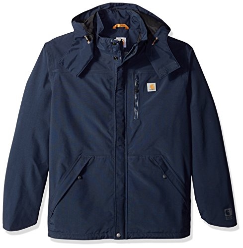 Carhartt Men's Big Shoreline Jacket Waterproof Breatheable Nylon, Navy, Large/Tall