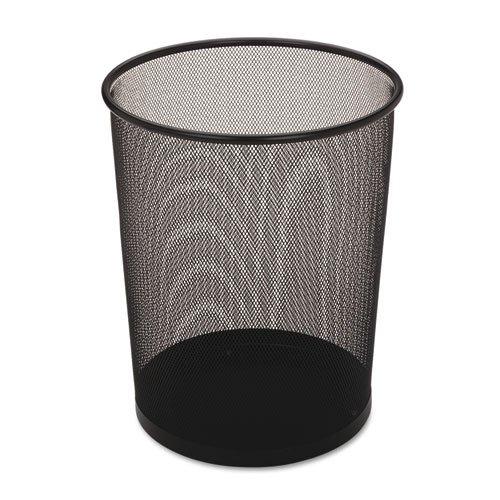- Rubbermaid Commercial Steel Mesh Wastebasket, Round, 5 gal, Black - Includes six waste receptacles.