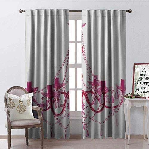 Hengshu Russian Light Candle Chandelier Multicolor Blackout Window Curtain Customized Curtains W72 x ()