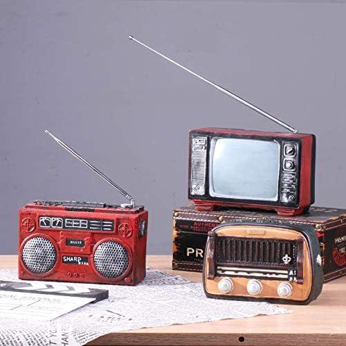 ZSWshop Radio Retro Antigua, TV, máquina de Escribir, máquina de ...