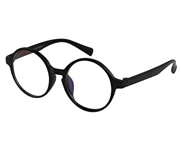 a01814e3a905 Image Unavailable. Image not available for. Color  EyeBuyExpress Glasses  Reading RX Women Men Bold Round Harry Potter Style Flexible Black