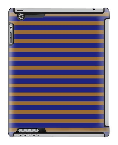 Uncommon LLC Deflector Hard Case for iPad 2/3/4 - Candy Stripe Gold Navy (C0010-YK)