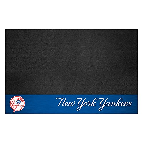 (Fanmats 12162 MLB New York Yankees Vinyl Grill Mat)