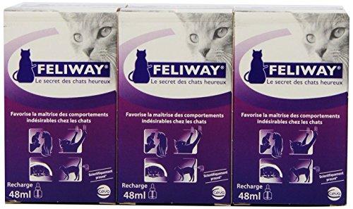 CEVA Feliway Zerstäuber - Set: Anti - Stressmittel gegen unerwünschtes Katzenverhalten (Kratzmarkieren, Pinkeln, etc.) (6 Zerstäuber - Sets)