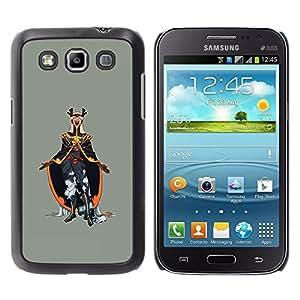KLONGSHOP // Cubierta de piel con cierre a presión Shell trasero duro de goma Protección Caso - Emperador del Mal - Samsung Galaxy Win I8550 //