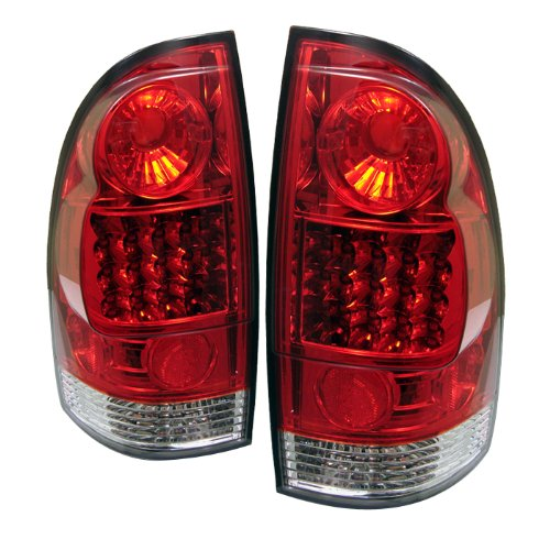 Clear Housing Spyder Red - Spyder Auto Toyota Tacoma Red Clear LED Tail Light