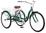 Schwinn Meridian Adult Tricycle, 26-Inch Wheels, Green
