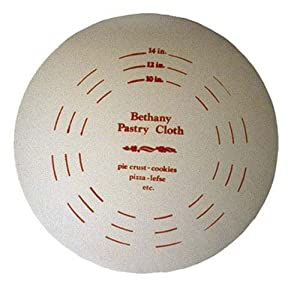 """Bethany Housewares 510 Bethany Pastry Cloth 19"""" Cotton Shrinkwrapped 1 Pack Tan 2 Heavy Pre-shrunk Cotton 19"""" Diameter Fits Bethany Pastry Board #500"""