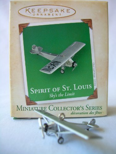 2004 Hallmark Ornament Miniature Spirit Of St. Louis # 4 Sky's the Limit - Mall Stores St Louis