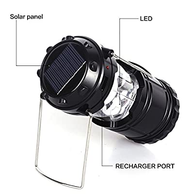 Ultra Bright Rechargeable Lantern , Solar Camping Lantern Powered Led,portable Camping LED Light,usb Charging,battery Power,ideal for Hiking, Camping,fishing,sports, Emergencies, Hurricanes, Outages