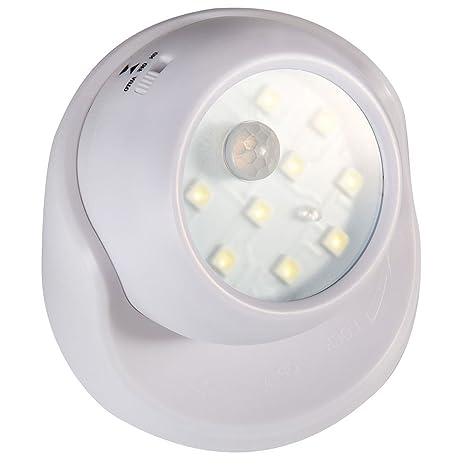 Oceanheart La noche del sensor de movimiento ligeras, detector cuerpo giratorio 360 ° punto de luz USB LED sin iluminación de seguridad nocturna ...