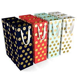 Amazon.com: 12 bolsas de regalo de vino – 4 colores lunares ...