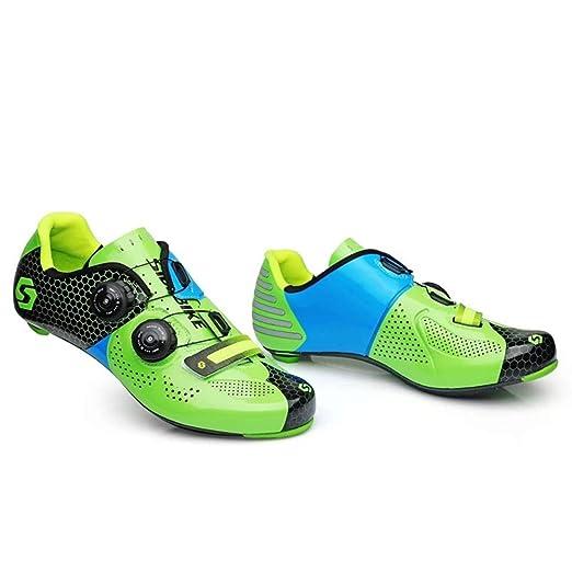 ZWYY Zapatos de Bicicleta de Carretera de Fibra de Carbono ...