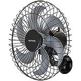Ventisol 5319, Ventilador Oscilante Parede 50 cm Turbo 6 Steel Premium, Preto
