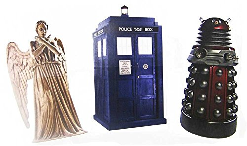 "Weeping Angel, Tardis & Red Dalek - BBC's Doctor Who - Advanced Graphics 10"" Mini Cardboard Standup"