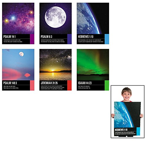 Religious Poster (HUGE - The Stars Praise His Name Religious Poster Set (6 pc / unit) • Size: 17