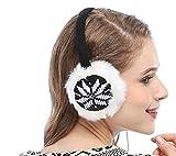 Women Girls Knitted Deer Designer Faux Fur Ear Muffs Headphones Music, Pink_deer Pattern One Size