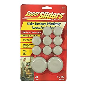 Super Sliders By Waxman 7601 Adhesive Furniture Sliders Table And Chair  Pack 20 Pieces