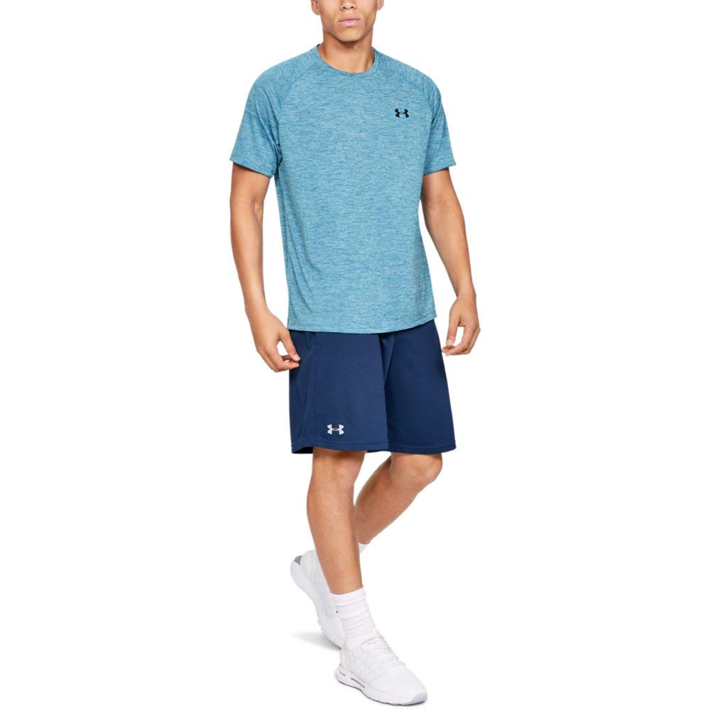 Under Armour Men's Tech 2.0 Short Sleeve T-Shirt, Ether Blue (452)/Academy, 3X-Large by Under Armour (Image #3)