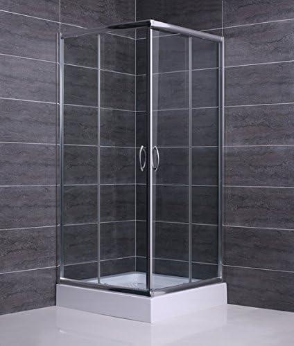 Mampara ducha de Cristal templado de 6 mm - 2 lados apertura corredera angular (modelos rectangulares son reversibles - derecha o izquierda de la apertura) - Medidas: 70 x 90 cm, H 185 cm: Amazon.es: Hogar