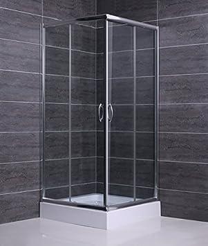 Mampara ducha de Cristal templado de 6 mm - 2 lados apertura ...