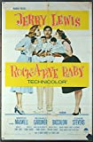 #4: Rock-A-Bye Baby (1958) Original Movie One-Sheet Movie Poster 27x41 Folded JERRY LEWIS MARILYN MAXWELL CONNIE STEVENS Film Directed by FRANK TASHLIN AVERAGE USED CONDITION GRADED FAIR