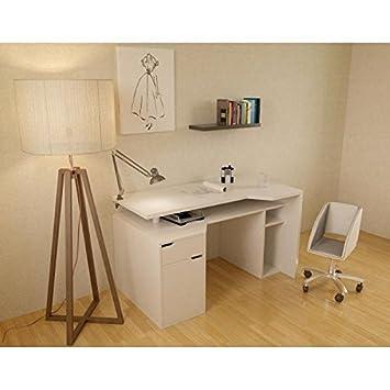 VENTURY mesa 160 x 70 cm, color blanco: Amazon.es: Hogar