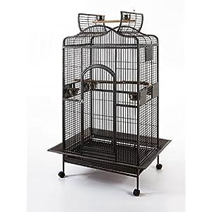 Parrot Macaw Cockatoo African Grey Bird Cage Q24-2822 Black Vein 110
