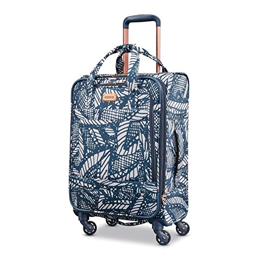 American Tourister Belle Voyage Spinner 21 Carry-On Luggage, Floral Indigo Sand by American Tourister
