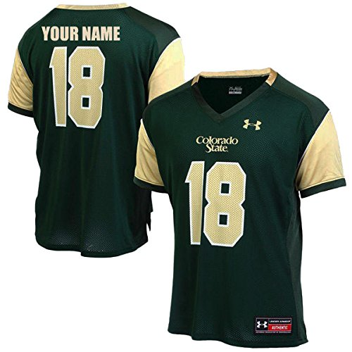 (Custom Colorado State Rams Football Jersey (Large) )