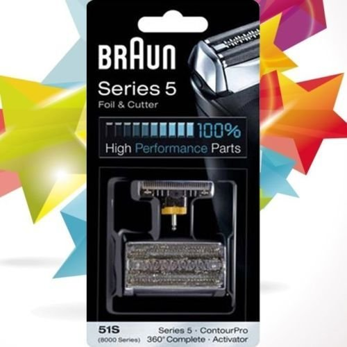BRAUN SHAVER 8000/Series 5 contourpro activator 360complete Foil&cutter pack 51S -