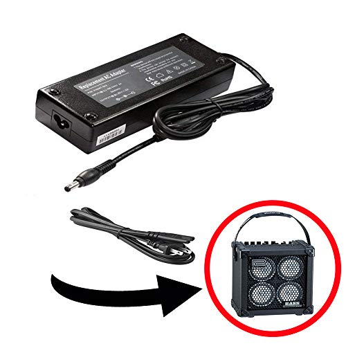 AC Power Adapter + Cord, Compatible with Roland Micro Cube Bass RX Battery-Powered Bass Combo Amp