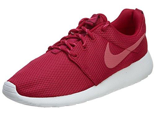 Nike Womens Roshe En Löparskor Mörk Fireberry / Rosa Pow-white