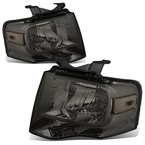 For Ford Expedition U324 Pair of Smoked Lens Clear Corner Headlight Kit