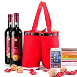 Homecube Large Size Christmas Candy Bag Wine