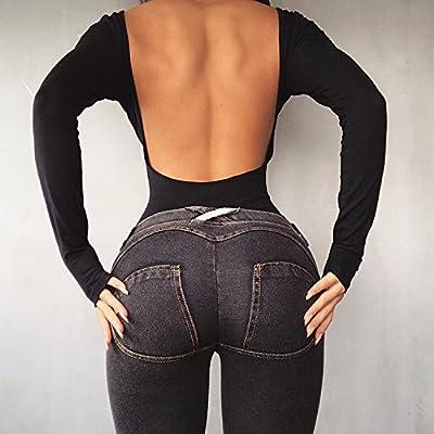 MAYUAN520 Les Fesses De La Femme, Jeans, Pantalons De Fitness, Pantalon Stretch Skinny Pantalon Gacu Et La Formation D'Hiver Et Pantalons Pantalons Pantalons,M,Ash