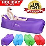 Great Home Inflatable Lounger Air Chair Couch Hammock Lazy Hangout Sofa Bag Get Inflated and Hold Air Better Others 50% Beach Couch Camping Sofa Couch Sport Outdoor Pool Toy Float