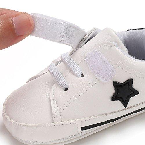 18 Cuero Bebé Pu Suave Negro De La Pasos Niñas Suela 0 Infantil Auxma Sneaker Niño Para Prewalkers Meses Zapatos Por Primeros zwFqUp