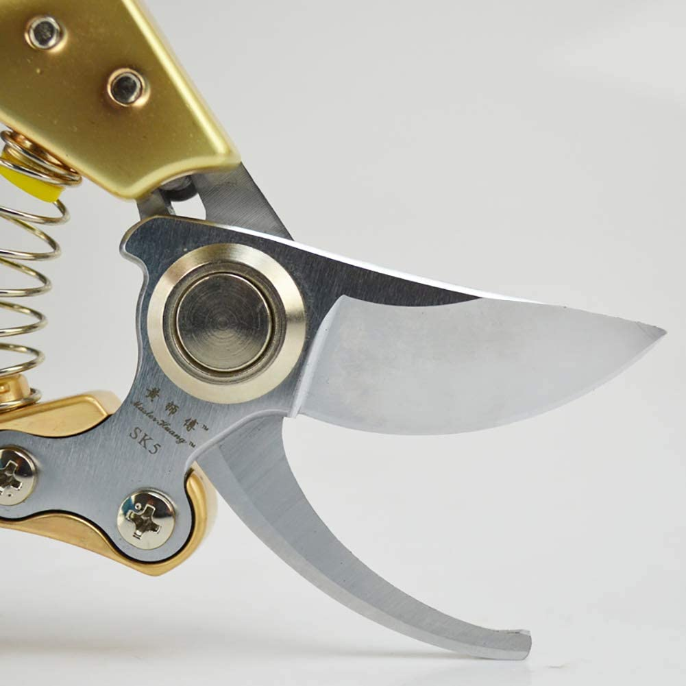 KTOL 21cm Sk-5 Bypass Pruning Shears,pro Tree Trimmers Pruner With Spare Blade Condom,ergonomic Non-slip Handle Safety Lock Cutting 25mm Set 5 Pruning Shears