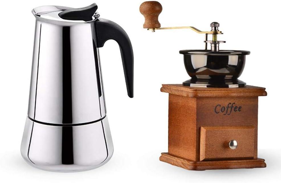 Stovetop Espresso Maker Cafetera Moka de Acero Inoxidable, Olla ...
