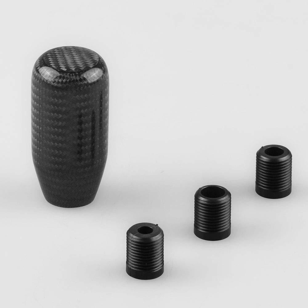Black-sk061 RYANSTAR Universal Car Gear Shift Knob Shifter Lever Round Ball Shape Carbon Fiber /…